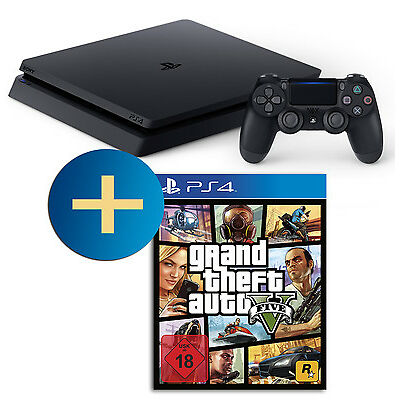 Sony PlayStation 4 500GB slim (PS4) + Controller + Grand Theft Auto V - GTA 5