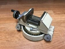 Mitutoyo Optical Comparator Vise 360 Degree Base With 3 Jaws