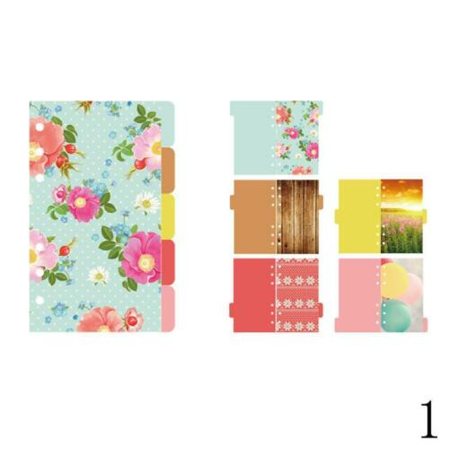 5 Blatt Packung A5 Lose Blatt Index Kategorie Papier Seite Sakura Separator