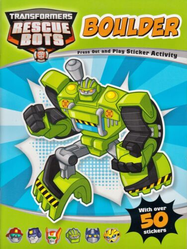 1 of 1 - Transformers Rescue Bots Boulder Sticker Activity BRAND NEW BOOK (Paperback 2014