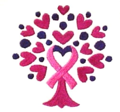 Pink Ribbon Hoodie Large Sweatshirt Heart Tree of Life White Breast Cancer New