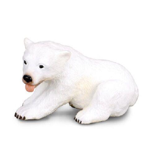 CollectA 88216 Polar Bear Cub Sitting 6 cm long 3.5 cm Tall Miniature Figure