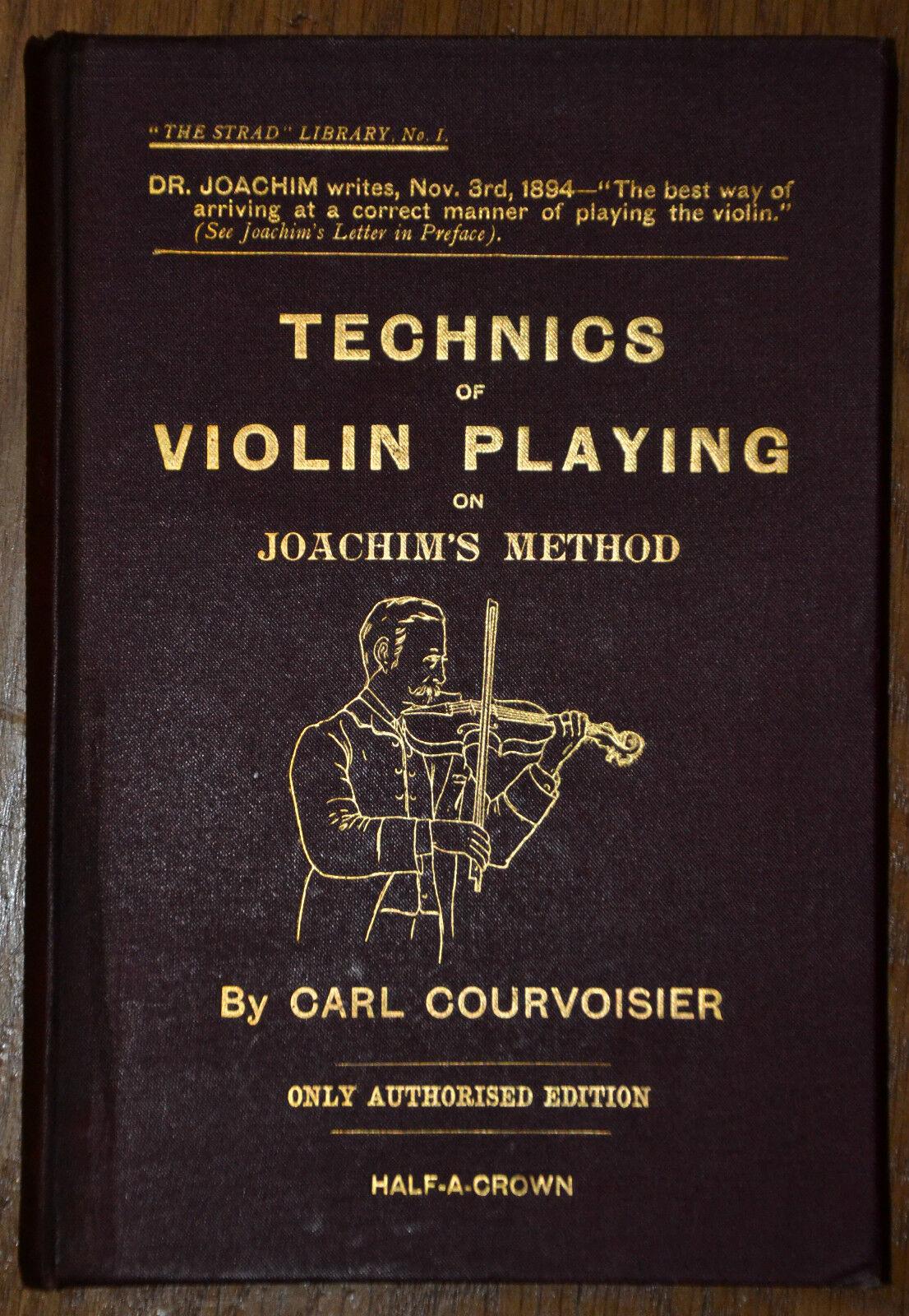 The Technics Of Violine Spielkarten Carl Courvoisier 1. Ed 1894 Strad Library No