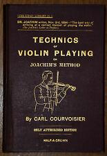La tГ © cnica de violín tocando Carl Courvoisier 1ª Ed. 1894 Strad Biblioteca N Me