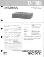 Sony Original Service Manual für TA-F 101R