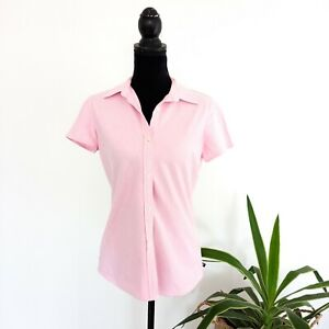 Polo-Jeans-Co-Ralph-Lauren-Pink-100-Cotton-Women-039-s-Size-Medium-Short-Sleeve-Top