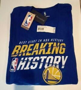 Golden-State-Warriors-Breaking-History-NBA-Fanatics-T-Shirt-73-9-Big-amp-Tall-NWT