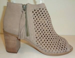Vince-Camuto-Size-8-5-M-TRESIN-Brown-Perforated-Leather-Booties-New-Womens-Shoes