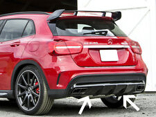 GLA45 AMG Style Rear Diffuser Sport Edition and Tailpipes Mercedes X156 GLA AMG