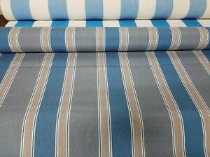"Sunbrella Awning / Marine 46"" wide, Blue/gray/beige color ..."