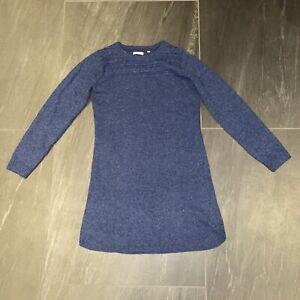 Womens Fat Face Long line Wool Blue jumper size 12