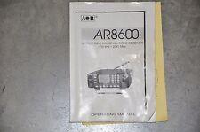 AOR AR-8600 Ricevitore di comunicazioni Desktop libretto di istruzioni