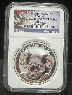 2018 P Australia $1 Koala NGC Ms 70 Early Releases