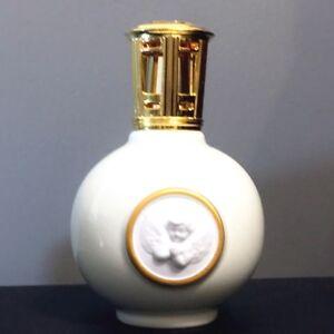 Vtg Lampe Berger Artoria Limoges White Embossed Cherub Angel