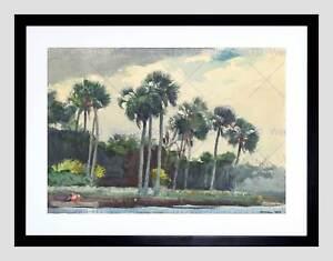 WINSLOW HOMER AMERICAN RED SHIRT HOMOSASSA FLORIDA FRAMED ART PRINT B12X5457
