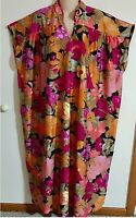 Nwtcolorful Floral Print 55 Caftan By anthony Richards O/s Small To Xl