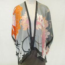 NEW NWT Cocoon House Wearable Art Nuance 100% Silk Kimono Top Large/XL (1X, 2X)