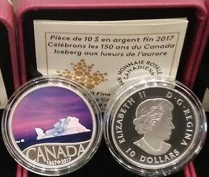 1867-2017 Iceberg at Dawn $10 1/2OZ Pure Silver Proof Coin Celebrating Canada150