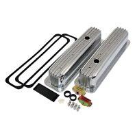 Sbc Chevy 305 350 Retro Aluminum Tall Valve Covers Kit Vortec 5.7l Centerbolt