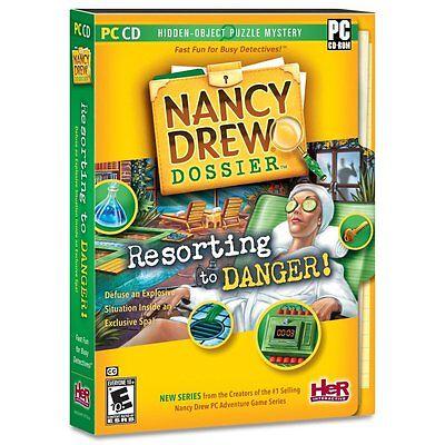 Nancy Drew Dossier Resorting to Danger - Hidden Object Windows PC Computer Game