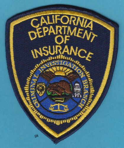 CALIFORNIA DEPARTMENT OF INSURANCE POLICE SHOULDER PATCH
