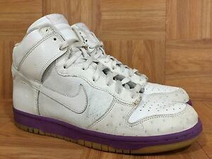online retailer 443e2 5a1d0 Image is loading RARE-Nike-Dunk-High-Deluxe-White-Ostrich-Hyacinth-