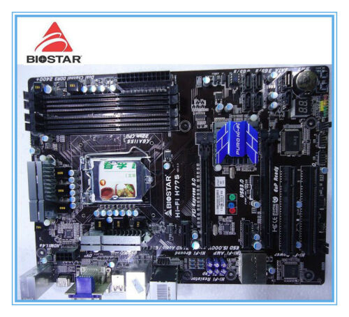 Biostar Hi-Fi H77S LGA 1155 H77 ATX DDR3 i3 i5 i7 CPU USB2 USB3 SATA3 IO shields