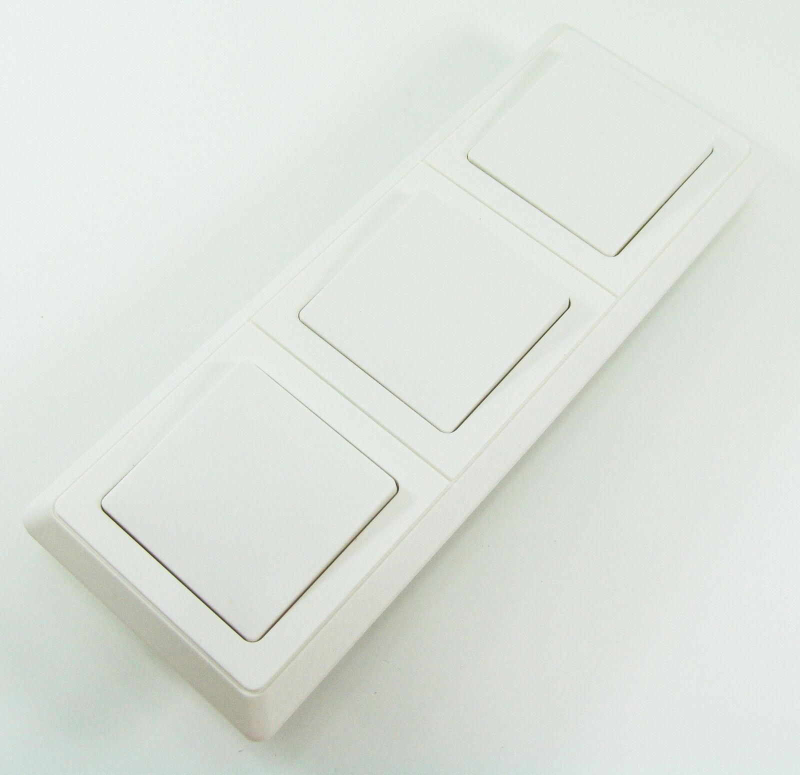 REV Düwi PrimaLuxe Weiß Lichtschalter Schalter Wechselschalter + 3er Rahmen