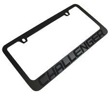 Dodge Challenger Stealth Blackout License Plate Frame R/T SRT Hellcat +Screws