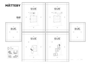 New Ikea Matteby Wall Hanging Templates Set Of 4 Picture Photo Frame
