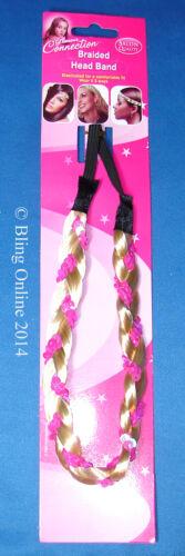 PLAITED PLAIT HAIR BRAID BRAIDED HEADBAND BROW HEAD BAND METALIC THREAD SEQUIN