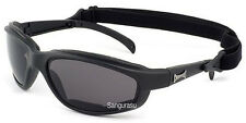 Mens CHOPPERS Motorcycle Driving Riding Glasses Padded Goggles Black Smoked Lens