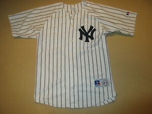 Derek-Jeter-New-York-Yankees-Russell-Athletic-Jersey-Youth-Large-14-16-SEWN