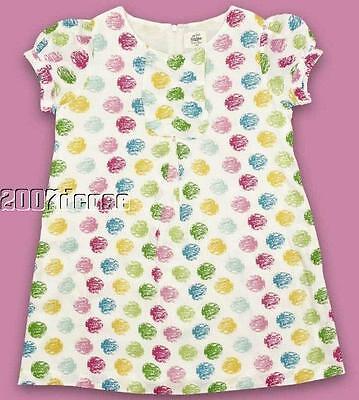 New Girls Spotty Summer Dress Top Age 2 3 4 5 6 7 8 9 10 Years Cotton Tunic Spot