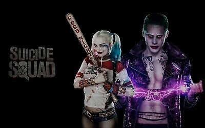 Canvas Picture Print Harley Quinn Suicide Squad Dc Comics Movie Large Poster