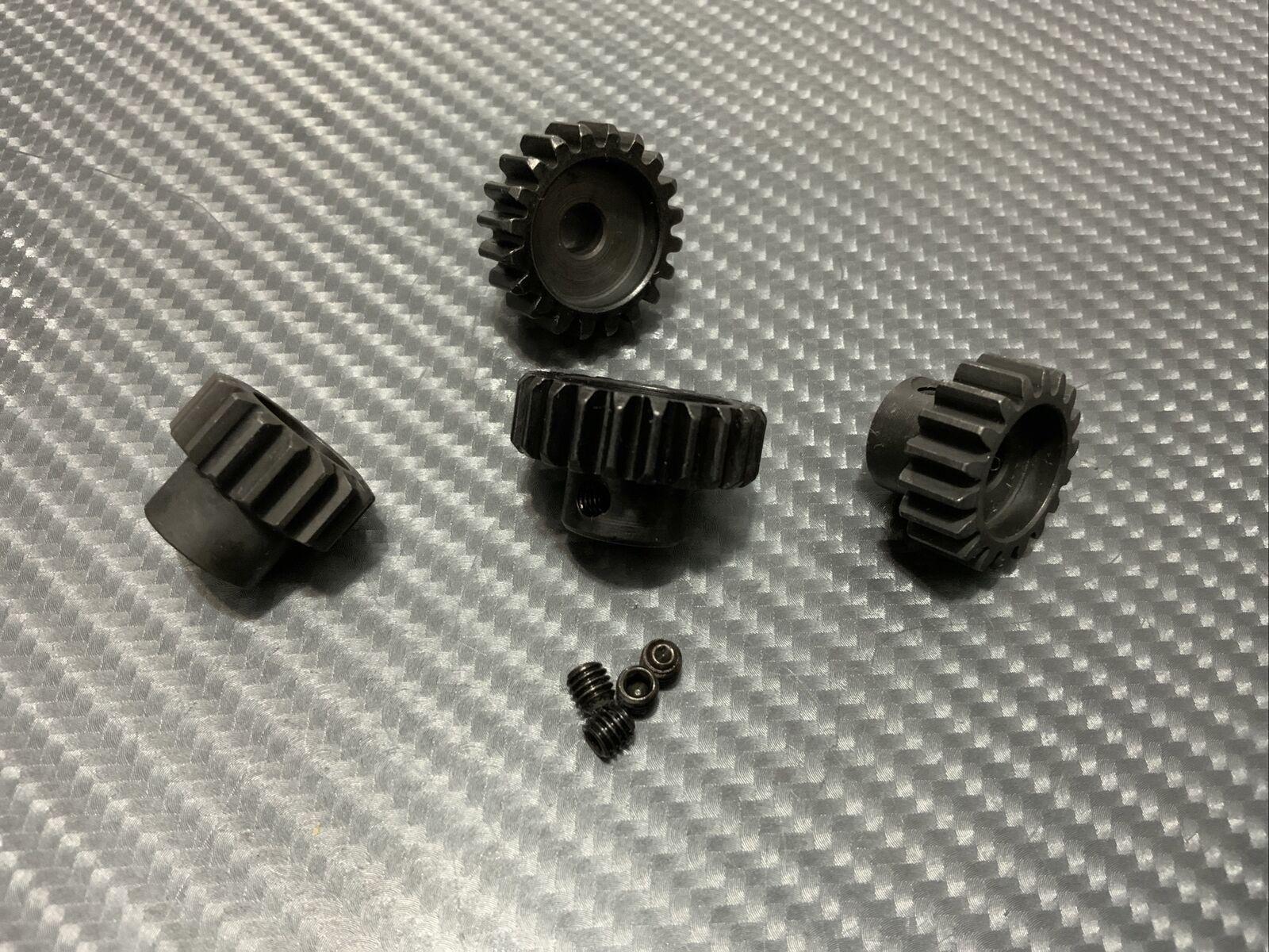 Mod 1 M1 17T 19T 5mm Steel Pinion Gear Fits Spur Castle 2200KV 1515 Motor S//Dent