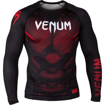 Venum No-Gi 2.0 Long Sleeve MMA Compression Rashguard Black//Brown