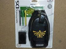 Paquete De Zelda Nintendo Ds Lite oficial Consola caso bolsa 3 Stylus Pegatina Nuevo! Raro!