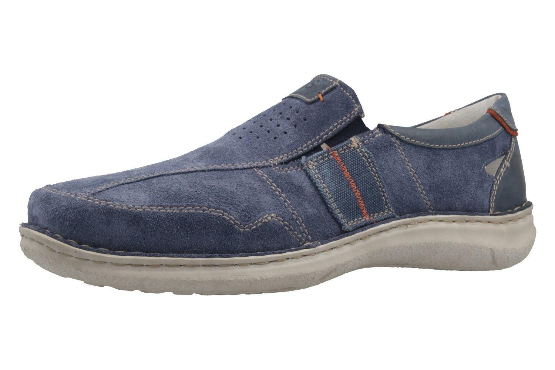Josef Seibel slipper en talla extragrande grandes zapatos caballero azul XXL