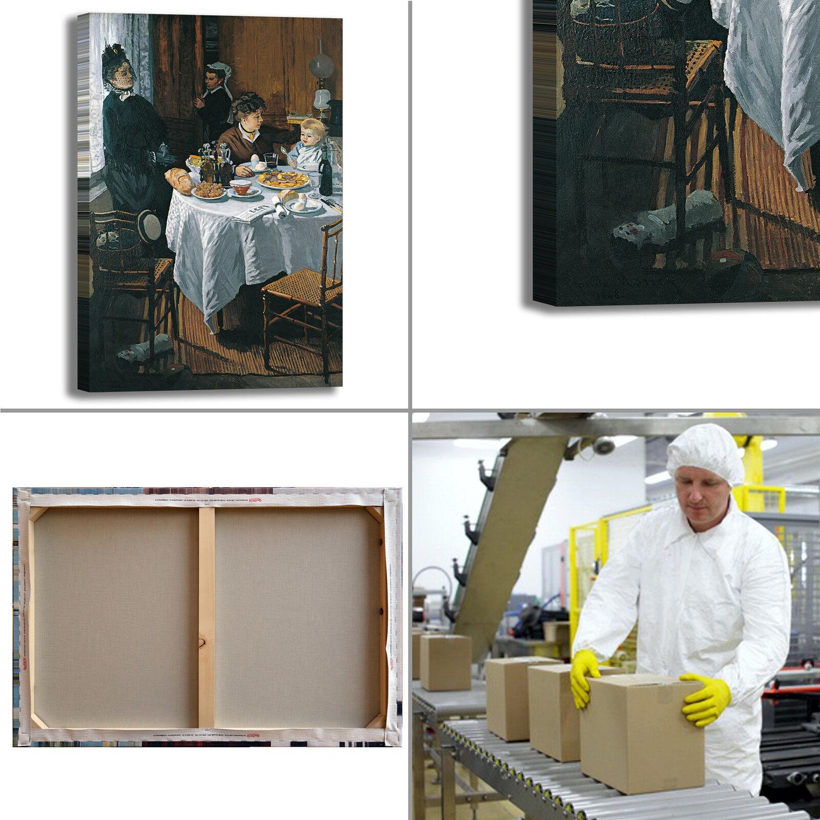 Monet il pranzo design quadro quadro design stampa tela dipinto telaio arRouge o casa c1b40b