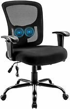 Bigroof 400lbs Mesh Big Amp Tall Office Chair Swivel Task Chair With Lumbar Support