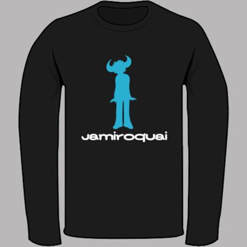 Jamiroquai Logo Jay Kay Soul Funk Music Noir T-Shirt à Manches Longues Taille S-3XL