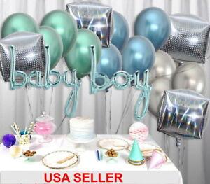 Baby-Boy-Laser-cube-Foil-Chrome-Metallique-Ballons-Baby-Shower-Party-Decoration