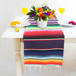 Mexican-Serape-Tablecloth-Table-Runner-for-Party-Wedding-Decor-Fringe-Cotton