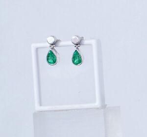 Smaragd-Ohrringe-Tropfen-Silber-intensives-Gruen-Unikat-Juwelier-Mode