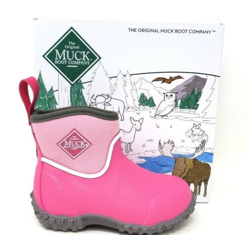 Kid/'s Muckster II Ankle MUCK Boots MAK-400 Pink W100 m New