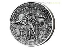 10 $ Dollar Norse Gods - Freyr Ultra High Relief Cook Islands 2 oz Silber 2016