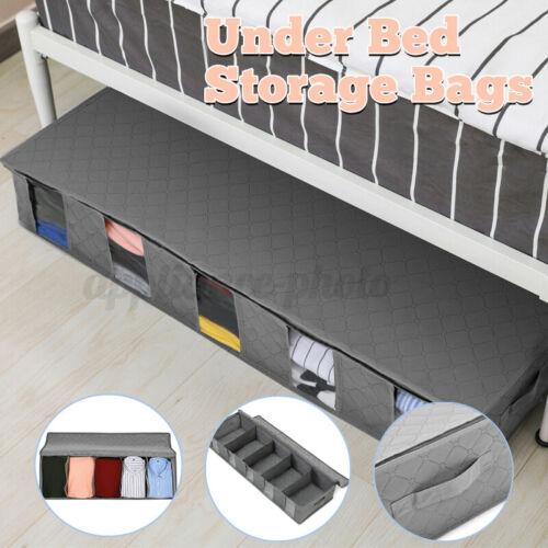 5 Layer Under Bed Storage Bag Large Capacity Clothes Shoes Organizer Box U