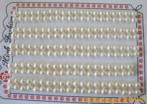 20Pairs OF 4MM AAA HALF DRILLED PEARLS W2936