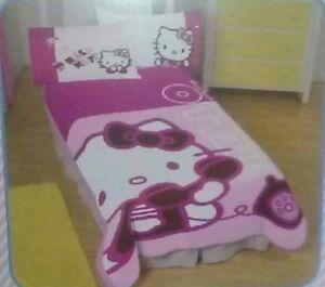 Hello kitty throw blanket full oversized micro raschel plush fleece 62